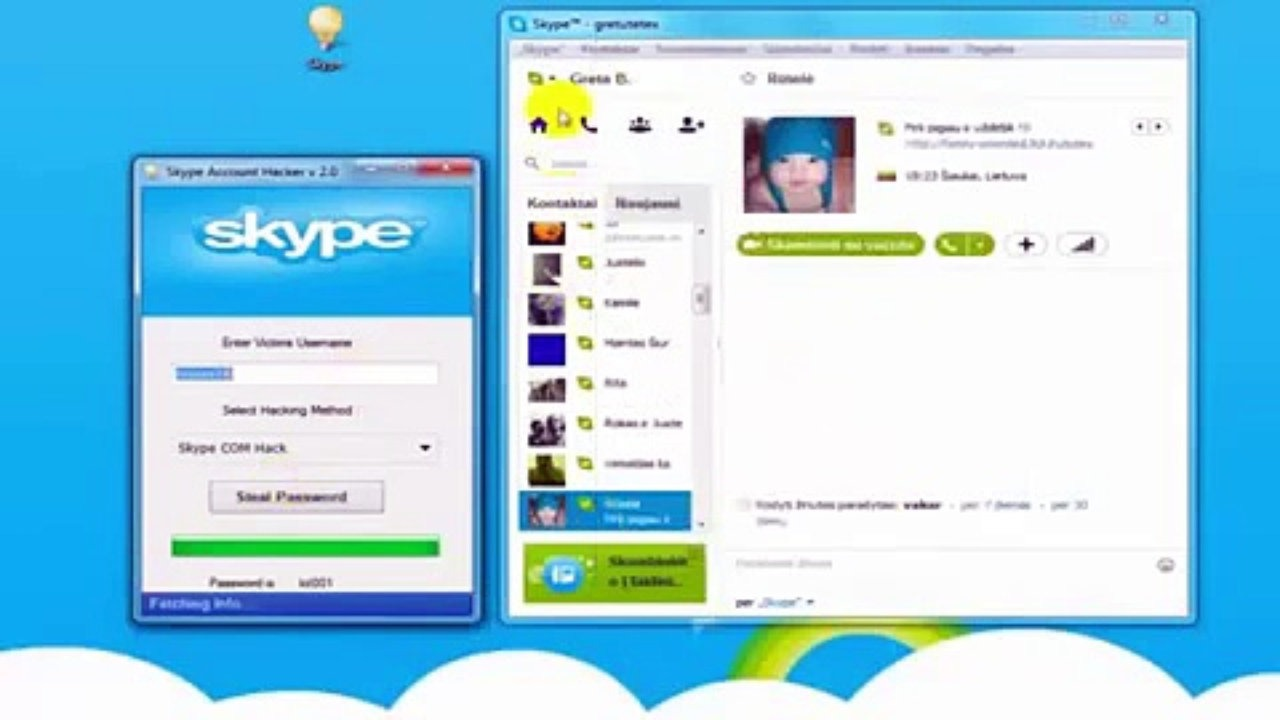 Comment pirater skype ?